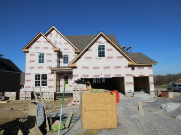 Exterior construction of the Brooklyn custom home plan
