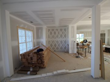 custom trim in dining