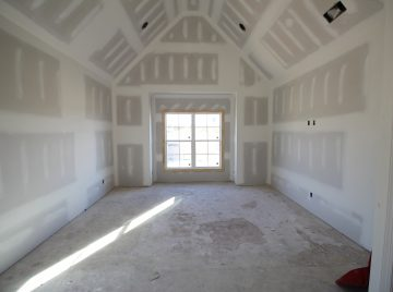 Vaulted ceiling in master